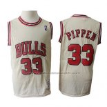 Maillot Chicago Bulls Scottie Pippen #33 Retro Crema