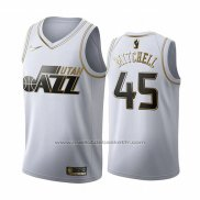 Maillot Golden Edition Utah Jazz Donovan Mitchell #45 2019-20 Blanc
