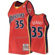 Maillot Golden State Warriors Kevin Durant #35 2009-10 Hardwood Classics Orange