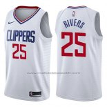 Maillot Los Angeles Clippers Austin Rivers #25 Association 2017-18 Blanc