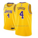 Maillot Los Angeles Lakers Alex Caruso #4 Icon 2018-19 Or