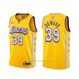 Maillot Los Angeles Lakers Dwight Howard #39 Ville 2019-20 Jaune