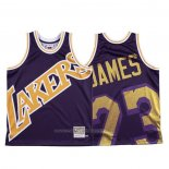 Maillot Los Angeles Lakers Lebron James #23 Mitchell & Ness Big Face Volet