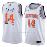 Maillot New York Knicks Allonzo Trier #14 Statement 2018 Blanc