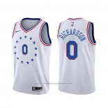 Maillot Philadelphia 76ers Josh Richardson #0 Earned Blanc