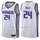 Maillot Sacramento Kings Buddy Hield #24 Association 2017-18 Blanc