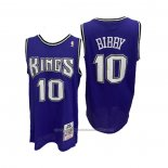 Maillot Sacramento Kings Mike Bibby #10 Mitchell & Ness 2001-02 Volet