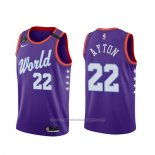Maillot 2020 Rising Star Deandre Ayton #22 World Volet