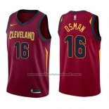 Maillot Cleveland Cavaliers Cedi Osman #16 Icon 2017-18 Rouge
