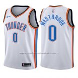 Maillot Enfant Oklahoma City Thunder Russell Westbrook #0 Association 2017-18 Blanc