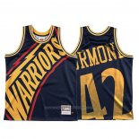 Maillot Golden State Warriors Nathaniel Thurmond #42 Mitchell & Ness Big Face Bleu