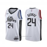 Maillot Los Angeles Clippers Paul George #24 Ville Blanc