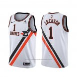 Maillot Los Angeles Clippers Reggie Jackson #1 Classic Edition Blanc