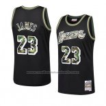 Maillot Los Angeles Lakers Lebron James #23 Camouflage Noir