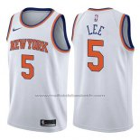 Maillot New York Knicks Courtney Lee #5 Association 2017-18 Blanc