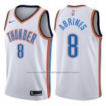 Maillot Oklahoma City Thunder Alex Abrines #8 Swingman Association 2017-18 Blanc
