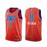 Maillot Oklahoma City Thunder Danilo Gallinari #8 Statement Orange