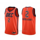 Maillot Oklahoma City Thunder Shai Gilgeous-Alexander #2 Earned Orange