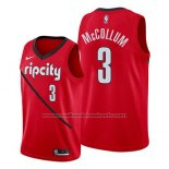 Maillot Portland Trail Blazers C.j. McCollum #3 Earned 2019 Rouge