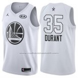 Maillot All Star 2018 Golden State Warriors Kevin Durant #35 Blanc