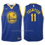 Maillot Enfant Golden State Warriors Klay Thompson #11 2017-18 Bleu