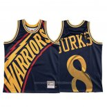 Maillot Golden State Warriors Alec Burks #8 Mitchell & Ness Big Face Bleu