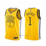 Maillot Golden State Warriors D'angelo Russell #1 Earned Jaune