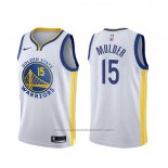 Maillot Golden State Warriors Mychal Mulder #15 Association Blanc