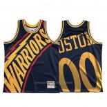 Maillot Golden State Warriors Personnalise Mitchell & Ness Big Face Bleu