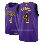 Maillot Los Angeles Lakers Alex Caruso #4 Ville 2018 Volet