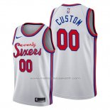 Maillot Philadelphia 76ers Personnalise Classic 2019-20 Blanc