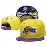Casquette Los Angeles Lakers Lebron James & Kobe Bryant 9FIFTY Snapback Amarill Volet