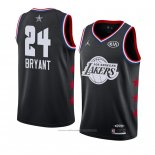 Maillot All Star 2019 Los Angeles Lakers Kobe Bryant #24 Noir