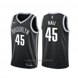 Maillot Brooklyn Nets Donta Hall #45 Icon 2020 Noir