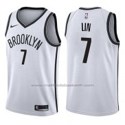 Maillot Brooklyn Nets Jeremy Lin #7 Association 2017-18 Blanc