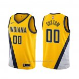 Maillot Indiana Pacers Personnalise Statement 2019-20 Jaune