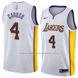 Maillot Los Angeles Lakers Alex Caruso #4 Association 2018 Blanc