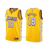 Maillot Los Angeles Lakers Dion Waiters #18 Ville Jaune