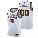 Maillot Milwaukee Bucks Personnalise 2017-18 Blanc