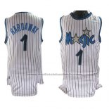 Maillot Orlando Magic Anfernee Hardaway #1 Retro Blanc