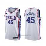 Maillot Philadelphia 76ers Ryan Broekhoff #45 Association Blanc