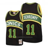 Maillot Seattle SuperSonics Detlef Schrempf #11 Mitchell & Ness 1994-95 Noir