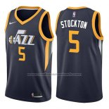 Maillot Utah Jazz David Stockton #5 Icon 2017-18 Bleu
