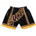 Short Los Angeles Lakers Mitchell & Ness Big Face Noir