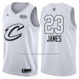 Maillot All Star 2018 Cleveland Cavaliers Lebron James #23 Blanc