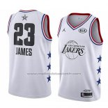 Maillot All Star 2019 Los Angeles Lakers Lebron James #23 Blanc