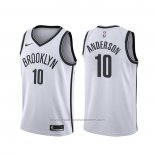 Maillot Brooklyn Nets Justin Anderson #10 Association Blanc