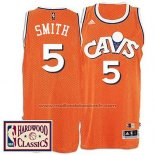 Maillot Cleveland Cavaliers J.R. Smith #5 Retro Orange