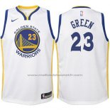Maillot Enfant Golden State Warriors Draymond Green #23 2017-18 Blanc