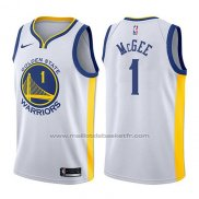 Maillot Golden State Warriors Javale McGee #1 Association 2017-18 Blanc
